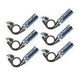 YIKESHU PCIE Riser, PCIe PCI-E 16x 8X 4X 1x Powered Riser Adapter Card w/ 60cm USB 3.0 Extension Cable & 6-Pin PCI-E to SATA Power Cable - GPU Riser Adapter - Ethereum Mining ETH (MK2017025-6)