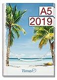 Chäff-Timer Classic A5 Kalender 2019 [Palmen] 12 Monate Jan-Dez 2019 - Terminkalender mit Wochenplaner - Organizer - Wochenkalender