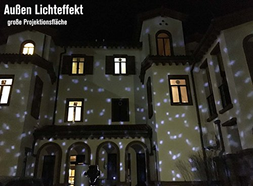 SMITHROAD LED Projektionslampe mit Fernbedienung Bewegliche Punkte Schneefall-Lichteffekt – Halloween – Karneval – Weihnachten Innen & Außen - 2