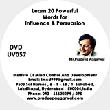 Learn 20 Powerful Words For Influence & Persuasion , DVD