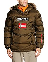 Geographical Norway Bolide, Chaqueta Bomber para Hombre, Verde (Kaki Militaire), X-Large