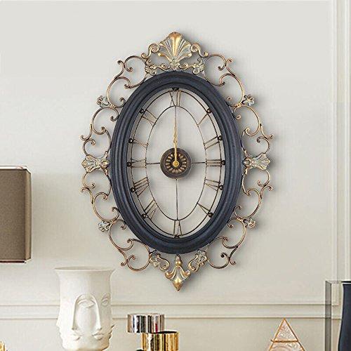 Wanddekoration Zr Europäische Klassische Alte Wanduhr Diamant Schmiedeeisen Wanduhr Wohnzimmer Mode Bells - Die Mauer schützen, die Innenumgebung verschöner (Farbe : A)