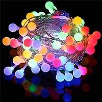 Innoo Tech Cadena de Iluminacion Guirnalda Luces 10M 100 LED Bombillas Multicolor Decoración de Navidad, Patio, Boda, Dormitorio, Fiesta de Cumpleaños,Reunión entre Familiares y Amigos (Enchufe Vesión Europea)