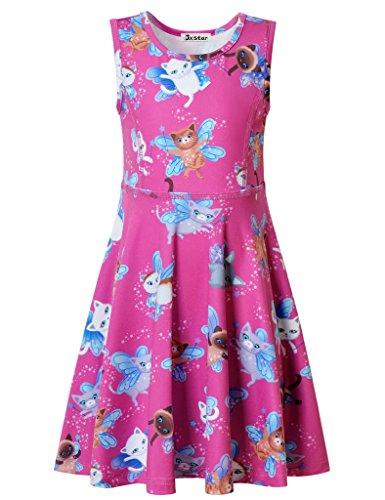 Jxstar Mädchen A-Linie Kleid 13 Jahre Gr. 7 Jahre, Fairy (Big Party Blue's Costume)