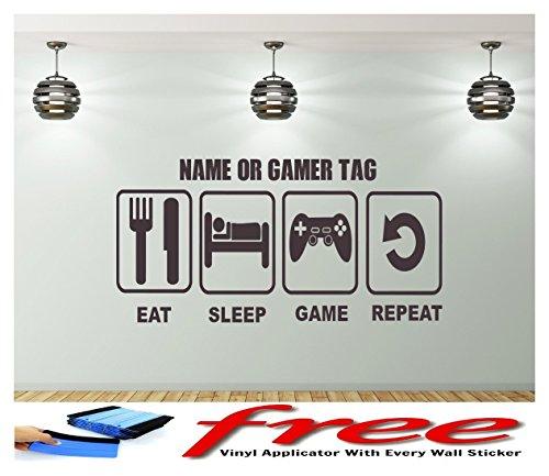 eat-sleep-game-repeat-nom-personnalise-mur-art-personnalise-enfants-chambre-vinyle-autocollant-murau