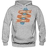 Shirt Happenz Aprés Ski Party Crew Hoodie | Herren | Wintersport | Alpin Ski | Snowboard | Skiurlaub | Kapuzenpullover | HerrenHoodie, Farbe:Graumeliert (Greymelange F421);Größe:M