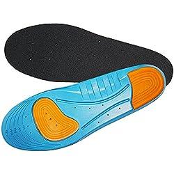 Aodoor plantillas del deporte, plantillas amortiguadoras, plantillas calzado deportivo, plantillas ortopedicas, anti-bacterial, ideal para el alivio del dolor y la pronación M 27.8cm(36-40 EU)