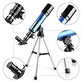 TELMU Teleskop 50 / 360mm Astronomisches Teleskop für die Beobachtung von Mond und Sterne Ideals Geschenk für Kinder von 5 bis 10 Jahren hergestellt von TELMU