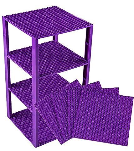 Premium Purple Stackable Base Plates - 4 Pack 6