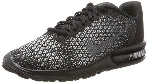 Tops Nike High Laufschuhe (Nike Herren Air Max Sequent 2 Laufschuhe, Grau (Noir/Grisfoncé/Grisloup/Hématitemétallique), 44.5 EU)