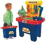 Bricco's Kinder Werkbank Werkzeug Kinderwerkstatt Spielzeugwerkbank Mini Workstation mit viel Zubehör in Aufbewahrungsbox