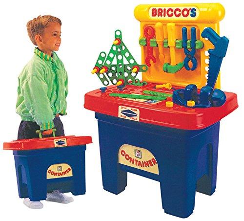 Bricco's Kinder Werkbank Werkzeug Kinderwerkstatt Spielzeugwerkbank Mini Workstation mit viel...