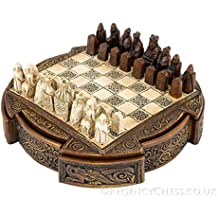 Isle Of Lewis Compact Celtic Chess Set 9 Inches by The Regency Chess Company Ltd, England