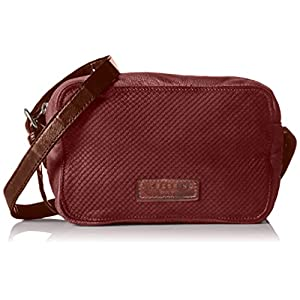 Liebeskind Berlin Dibajah7 Cit, Borsa a Tracolla Donna, Rosso (Gang Wine), 7x14x21 cm