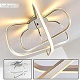 Moderne Deckenlampe im kubistischen Design – Designer-Leuchte mit quadratischen Lichtleisten – Warmweißes LED-Licht für eine gemütliche Stimmung in Wohnzimmern, Küchen und Essbereichen
