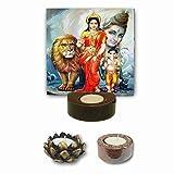 #1: YaYa Cafe Lord Shiv Ganesh Parvati Tealight Candle Holder Divine Religious Navratras Diwali Durga Puja Gifts - Set of 3