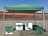 B0725RD9V8 91734 - Gazebo Richiudibile 3x3 Pieghevole a Fisarmonica Automatico Mercato Tenda Colore Verde a Righe Bianche con Sacca