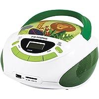 Metronic 477144 Radio Lecteur CD enfant Jungle avec Port USB/SD/AUX-IN  - Vert et Blanc