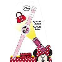 Minnie Mouse Reloj, Linterna (Kids Euroswan WD16848)