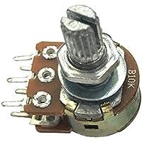 SODIAL 5 piezas B10K 10K Ohm 6 Terminales Potenciometros conicos rotativos lineales dobles