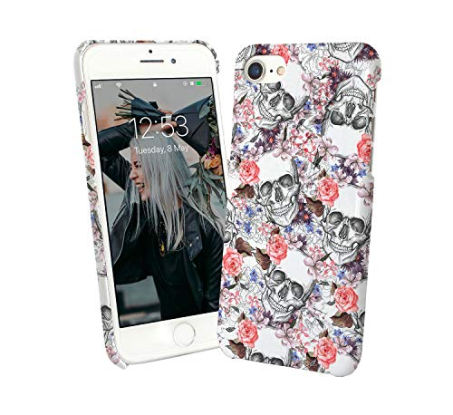 Girly Skulls Flowers Bloom Spring Cute Rock And Roll Soft Metal Metalica Revolution Case For Compatible With Samsung Galaxy S10 Plus Handyhulle Hülle SchutzCover Bumper Shell Protective Protection Revolution Holster