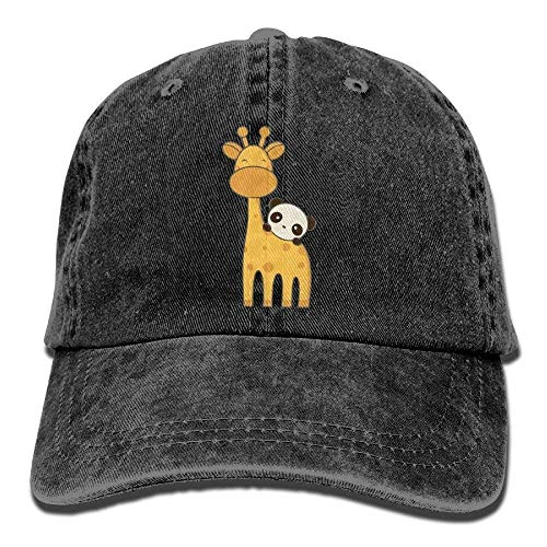 Baseballmützen/Hat Trucker Cap Baseball Jeans Cap Cute Giraffe and Panda Golf Hats Baseball Cap Adjustable Unisex Suitable for All Seasons (Veranstalter Reinigungsmittel)