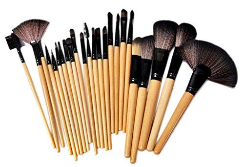 Bigood 24Pcs Pinceaux Brosse Maquillage Professionnel avec Trousse Cosmétique
