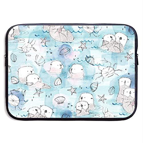 Cuddling Otters in Blush 13-15 Inch Laptop