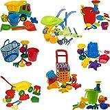 Sandspielzeug / Strandspielzeug SET mit vielem Zubehör für Sandkasten / Strand (XL EIMER SET)