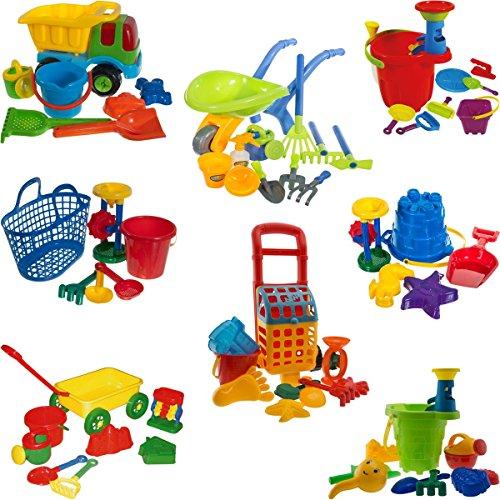 Sandspielzeug / Strandspielzeug SET mit vielem Zubehör für Sandkasten / Strand (SANDEIMER SET BLAU)