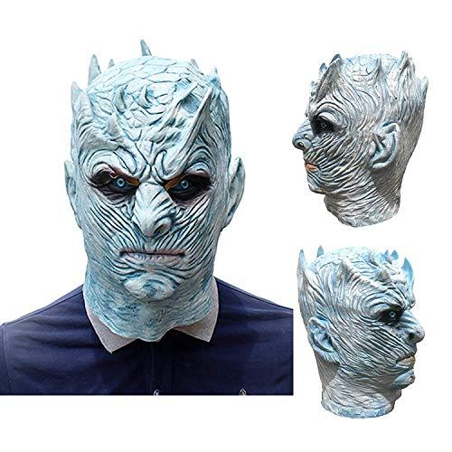 Kind Kostüm König Eis - JWTOY Neuheit Halloween Latex Gummi Maske Erwachsene Latex Vollmaske Game of Thrones Nacht König Maske Cosplay Kostüm Maske Für Erwachsene Party Dekoration Requisiten