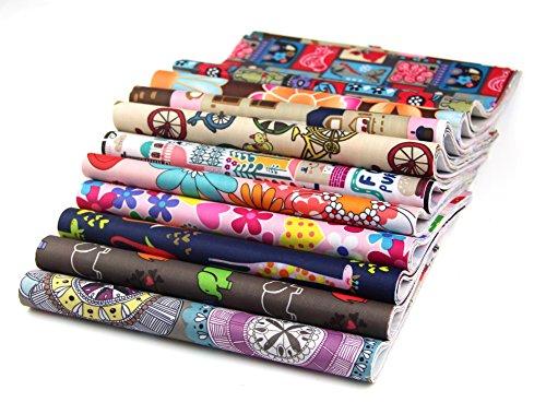 RayLineDo® Packung mit 15 x 20cm * 25cm Verschiedene Muster Polyester Patchwork Stoff Bundle Squares Steppen Scrapbooking Nähen Artcraft Tasche Hand machen Projekt Stoff -