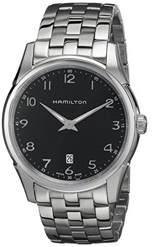 hamilton orologio analogico quarzo uomo con cinturino in acciaio inox h38511133