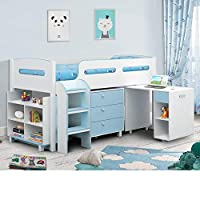 Happy Beds Kimbo Sleep Station Children Kids Cabin Bunk Bed Storage Drawers 3