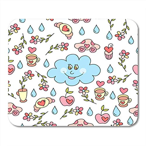 HOTNING Gaming Mauspads, Gaming Mouse Pad Adorable Cute Cartoon Sweet and Flowers Aztec Baby Beautiful 11.8