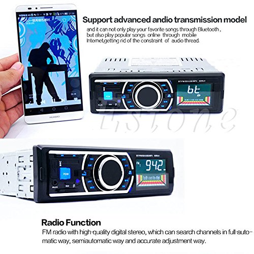 Alcoa Prime Bluetooth Car In-Dash Stereo FM Radio Audio Receiver MP3 Player SD USB Aux 12V