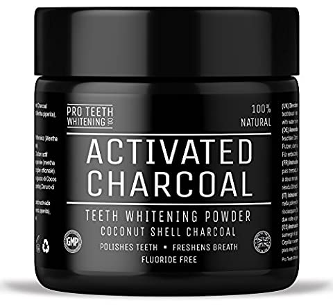 Activated Charcoal Natural Teeth Whitening Powder by Pro Teeth Whitening Co® | Manufactured in the