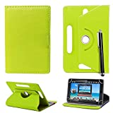 7'' Universal Tablet Hülle - Mobile Stuff Ultra Slim PU Leder Flip Cover Schutzhülle für tablet PC Painted Case Lederhülle Ledertasche Etui Hülle Tasche Schale mit Ständer Function + Stylus (Universal Hülle für 7 Zoll, Plain Green Book) Lenovo Tab 2 A7-10 7 Zoll Tablet Pc, Huawei Mediapad X2, Odys Rapid 7 LTE 7 Zoll Tablet-PC, Asus Nexus 7, Alldaymall A88X 7 Zoll Tablet PC, Dragon Touch Y88X Plus 7 Zoll Tablet PC, iRULU eXpro 1 Tablet PC (X1), XIDO X70 7 Zoll Tablet-Pc