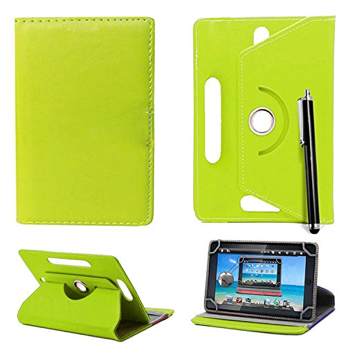 7'' Universal Tablet Hülle - Mobile Stuff Ultra Slim PU Leder Flip Cover Schutzhülle für tablet PC Painted Case Lederhülle Ledertasche Etui Hülle Tasche Schale mit Ständer Function + Stylus (Universal Hülle für 7 Zoll, Plain Green Book) Lenovo Tab 2 A7-10 7 Zoll Tablet Pc, Huawei Mediapad X2, Odys Rapid 7 LTE 7 Zoll Tablet-PC, Asus Nexus 7, Alldaymall A88X 7 Zoll Tablet PC, Dragon Touch Y88X Plus 7 Zoll Tablet PC, iRULU eXpro 1 Tablet PC (X1), XIDO X70 7 Zoll Tablet-Pc