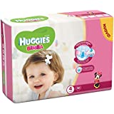Huggies – Bimba – Couches – Taille 4 (7 – 18 kg) – 32 Couches