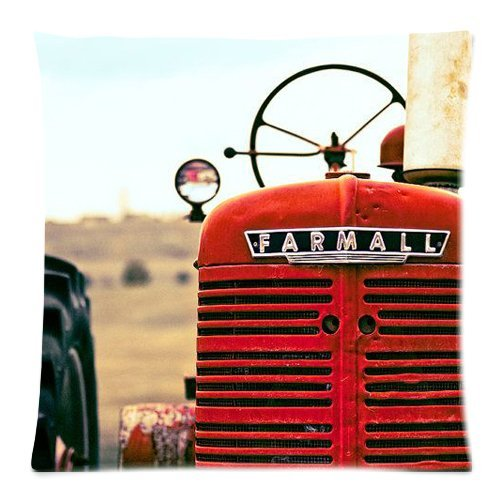 Hot New Arrival Red Tractor Pillow Cases - 18 x 18