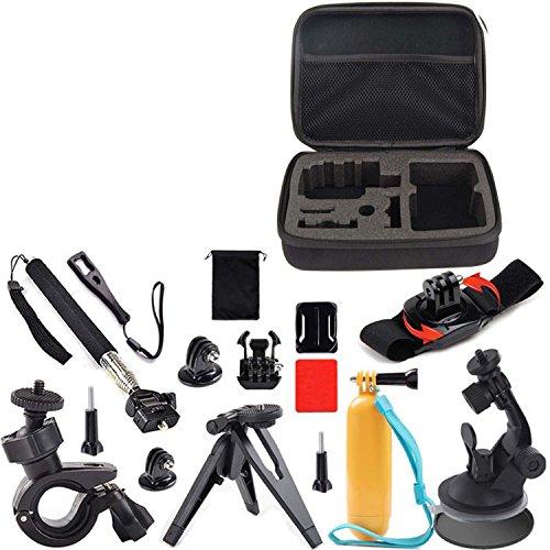 Vococal® 13 Stück Outdoor Sportarten Digitalkameras Zubehör-Sets für Gopro – Kamerazubehör Halterungen für Actionkameras