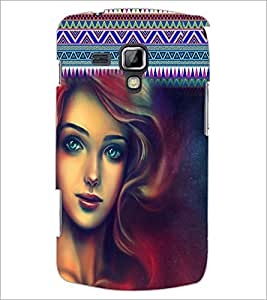 PrintDhaba Beautiful Girl D-5079 Back Case Cover for SAMSUNG GALAXY S DUOS S7562 (Multi-Coloured)