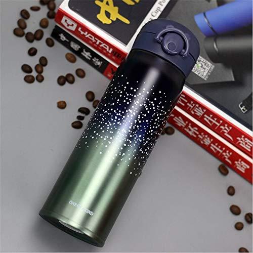 8350 Cover (UACEER Tasse Doppelwandige Edelstahl Isolierflaschen 500 ml Thermoskanne Tasse Kaffee Tee Milch Reisebecher Thermoflasche Geschenke, 8,350 ml)