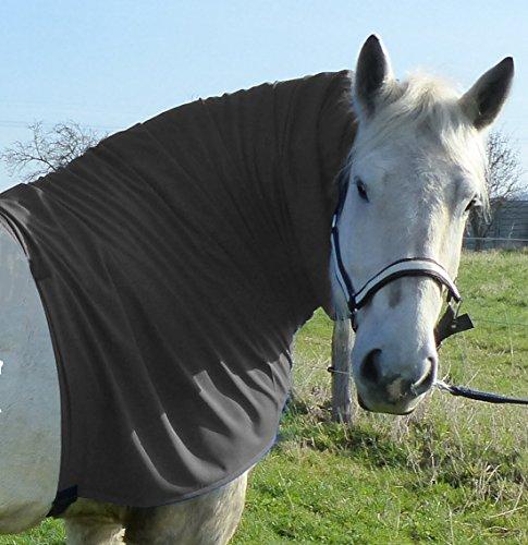 Pferdehalsdecken Ekzemerdecke Halsteil (Warmblut, grau)