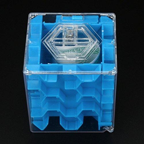 3D Cube Puzzle Geld Labyrinth Bank Saving Coin Collection Schutzhülle Box Fun Gehirn Spiel von cinnamou (Coin Klar, Bank)
