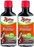 Poliboy - Fixneu Möbelpolitur Dunkel - für dunkle Oberflächen - beseitigt Kratzer und frischt auf! - 200ml (2x100ml) - Made in Germany