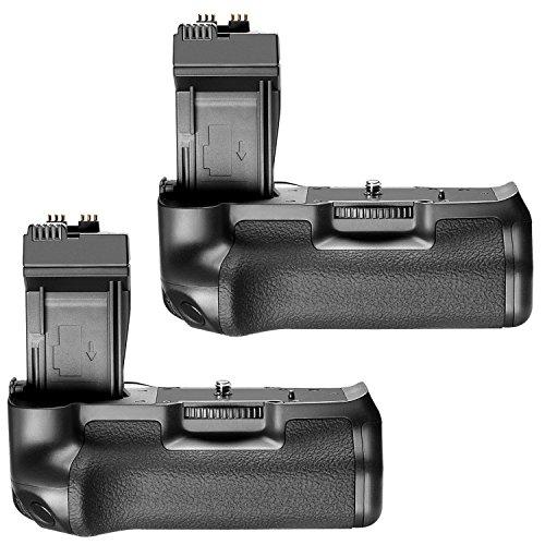 Neewer 2 Packs BG-E8 Ersatzakku Griff Kit für Canon EOS 550D 600D 650D 700D / Rebel T2i T3i T4i T5i Kameras