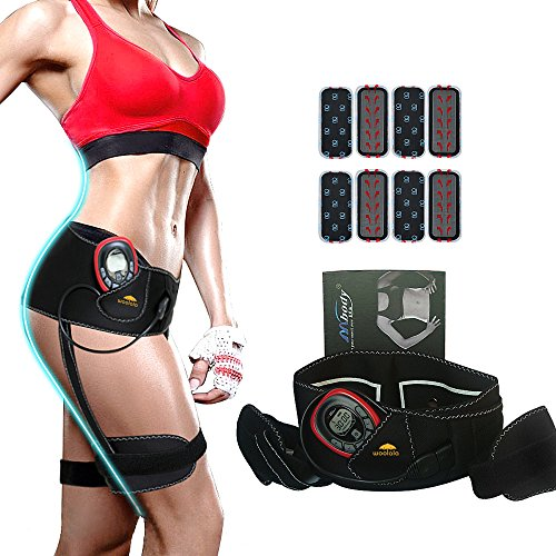 Bottom Toner, Woolala Hip & Thigh Muscle Trainer Electrical Stimulation Keep Fitness Body Massage Shaper And Cellulite Removal