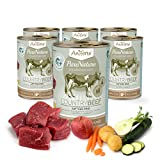 AniForte PureNature Country Beef Nassfutter 6x400g Hundefutter-...
